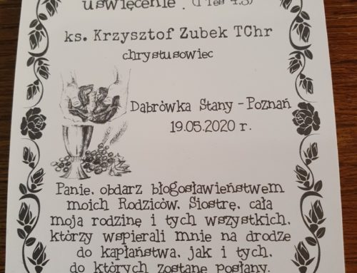 Relacja z prymicji ks. Krzysztofa Zubka (25.05.2020)