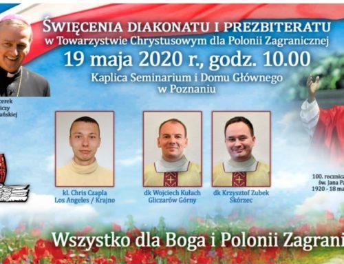 """Świecenia prezbiteratu """"naszego"""" Krzysztofa (19.05.2020)"""