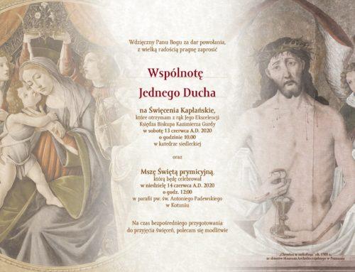 Zaproszenia dla WJD od dk. Adama (13.06.2020)